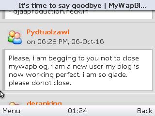MyWapblog shutting down