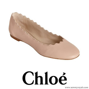 Princess Mary wore Chloe Lauren Scalloped Ballerina Flat