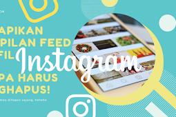 Merapikan Tampilan Feed Profil Instagram, Tanpa Menghapus