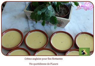 Vie quotidienne de FLaure : Iles flottantes, coulis de mirabelles (Cooking chef et Micro-ondes)