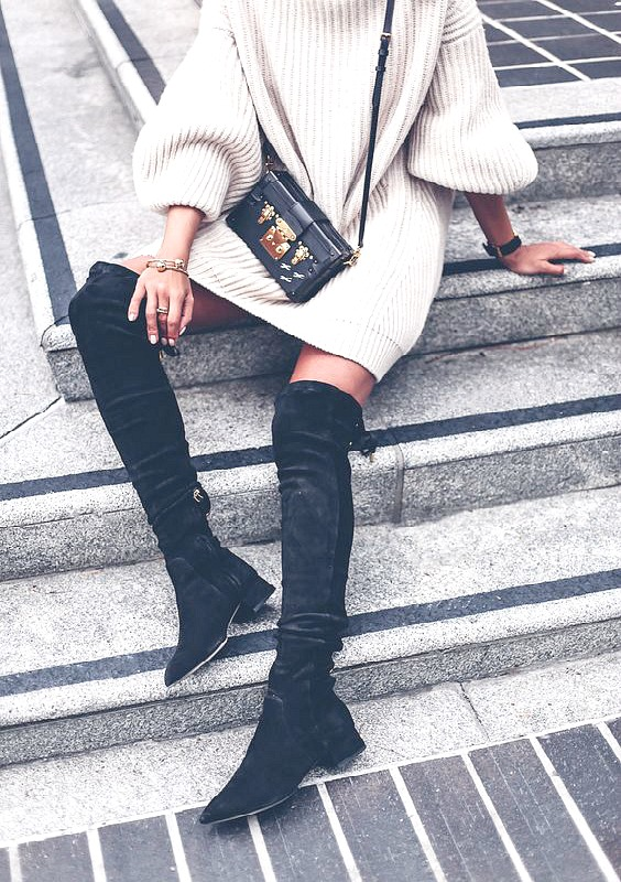 Over the knee boots: Outfitt and Shopping Inspiration - Ioanna's Notebook
