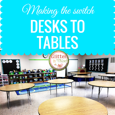 Thinking about ditching your desks for classroom tables? Read to find out how to manage storage when your students are using community supplies!