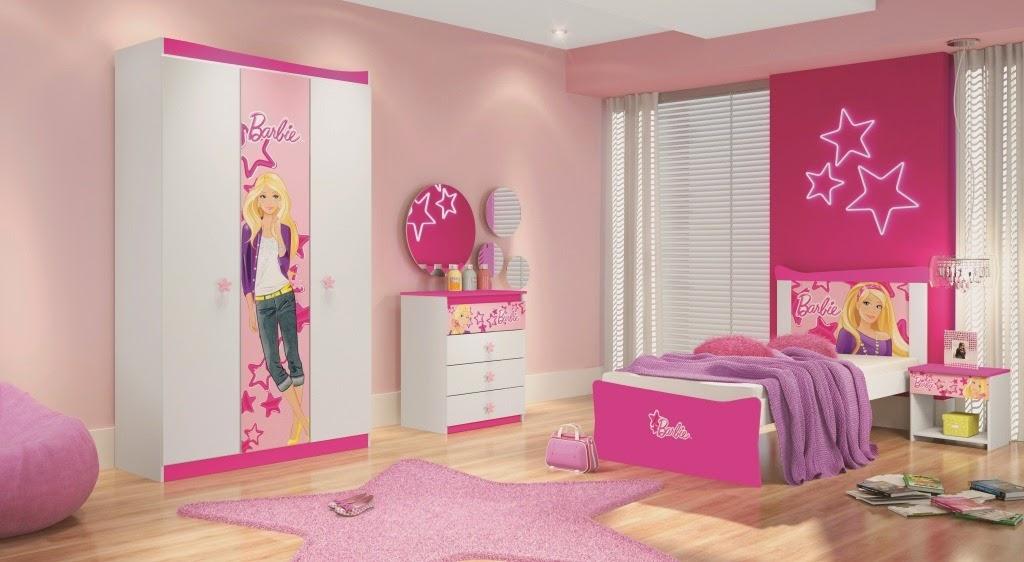 Dormitorios color rosa tema barbie dormitorios colores y - Cuartos de nina decorados ...