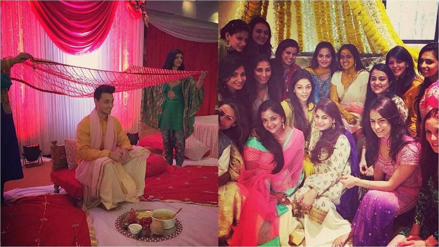 Aayush Sharma's wedding rituals: Arpita Khan's Haldi function