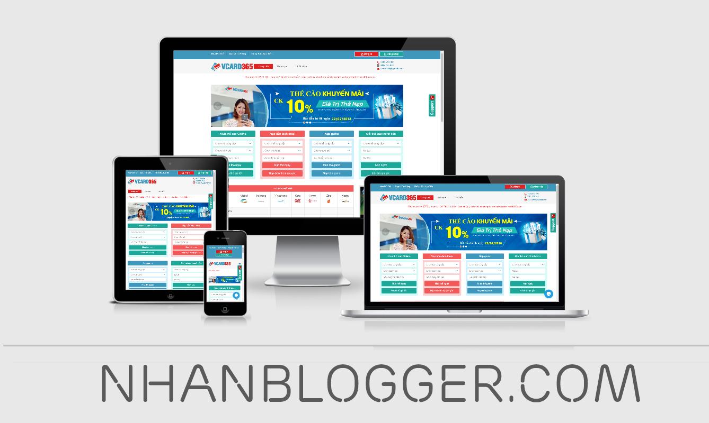 [NBG = 03] Source Code Website Gạch Thẻ Online Responsive