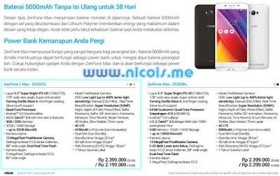 Harga dan Spesifikasi Asus ZenFone 3 Max ZC520TL