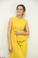 Taapsee Pannu looks mesmerizing in Yellow for her Telugu Movie Anando hma motion poster launch ~  Exclusive 086.JPG