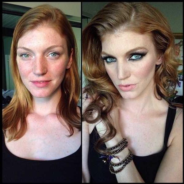 Model Playboy Tercantik Sebelum Dan Setelah Makeup