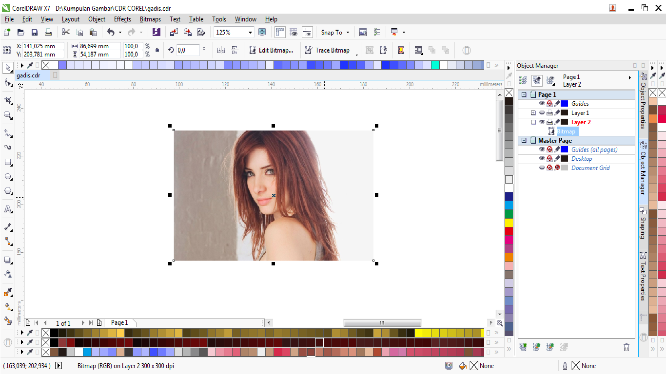 finest drag gambar yang sudah dipilih ke aplikasi corel draw temanteman  with manual corel draw x7
