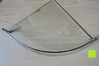 berichtigt: KROLLMANN hochwertige Eck Badablage mit Glasboden und Reling