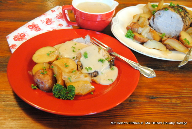 Maple Pork Loin Roast With Apples and Vegetables at Miz Helen's Country Cottage
