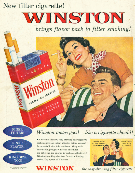 Winston advertisement 1954 - couple - B
