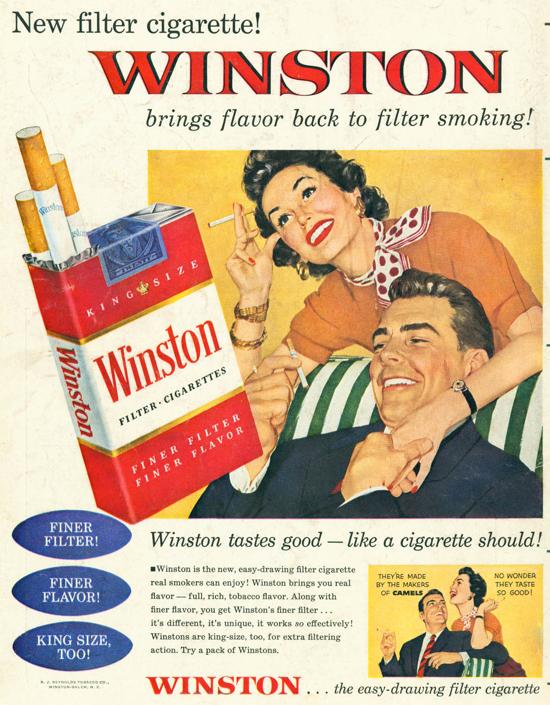 Winston advertisement 1954 - couple - B