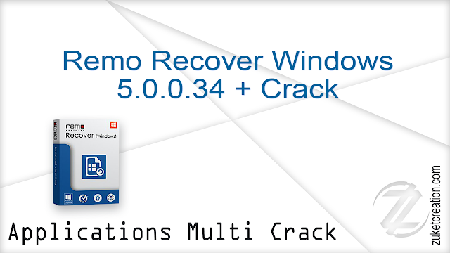 Remo Recover Windows 5.0.0.34 + Crack  |  37.5 MB