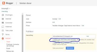 cara mentransfer domain blogspot ke com