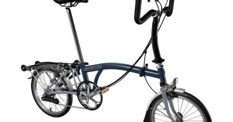 Jual Sepeda Lipat Brompton P6R 2017 - Tempest Blue Grey