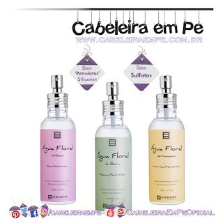 Águas Florais - Elemento Mineral (Rosas, Alecrim e Hamamélis) - Sem Petrolatos, Sem Silicones e Sem Sulfatos ('No Poo' para pele)