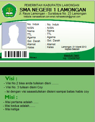 Software Id Card Simple Student Card Professional ...