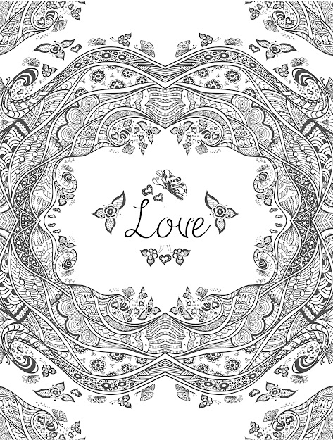 Free Downloadcoloring Pages About Love For Adults