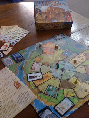 Mystery of the Abbey game in play