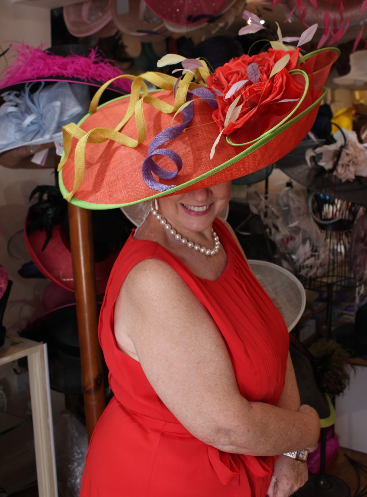 Anne C s colourful rainbow hatinator (these are like hats but sit on a band  for comfort ef66c5fef61d