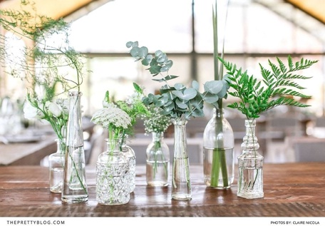 Botol kaca jadi vas bunga bergaya nordic