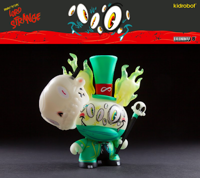 "Kidrobot Exclusive Lord Strange Glow in the Dark Edition 8"" Dunny Vinyl Figure by Brandt Peters"