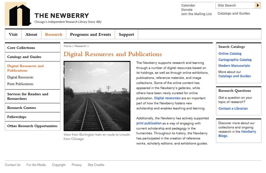 The Newberry Digital Resources