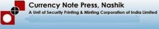 Currency Note Press Nashik Recruitment
