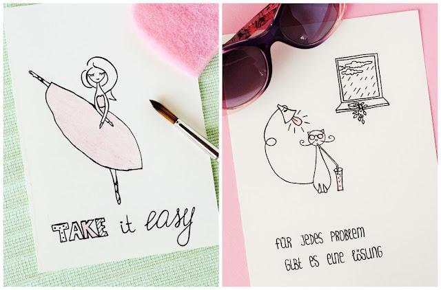 Motivationsbilder und Sprüche - Mädchen - Katze