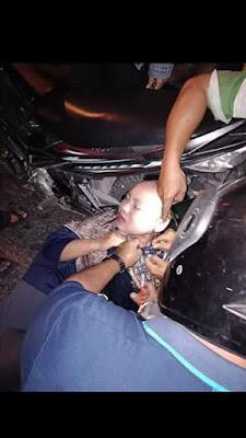 Hati-hati naik motor menggunakan Kain Syari atau jubah. Bisa terlilit dan kecelakaa