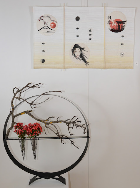 Art Quilt and Ikebana - Nathalie Tamborini (Quilt) and Denise Baudat (Ikebana)