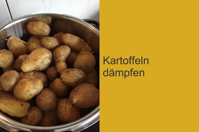 Kartoffeln im Dampfkochtopf