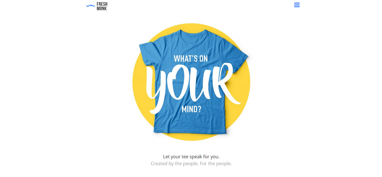 Design your t shirt india - Freshmonk Com India