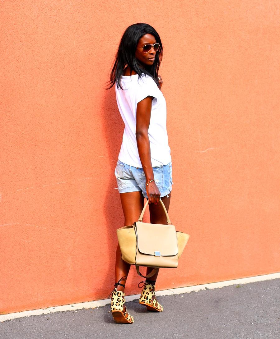 blog-mode-mademoiseille-merveilleuse-sandales-leopard-short-jeans-t-shirt-imprime