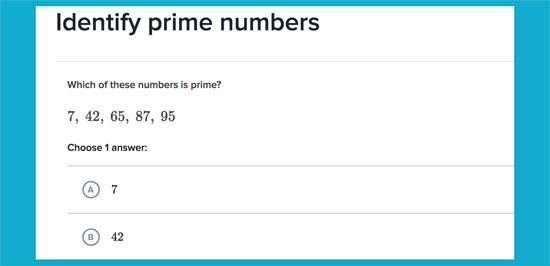 Ejercicio para identificar números primos