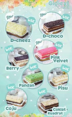 Daftar Harga Gigi Eat Cake, Ada Yang Baru!