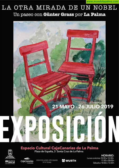 El Cabildo presenta una exposición de obra plástica del Nobel Günter Grass que incluye trabajos realizados durante su estancia en La Palma
