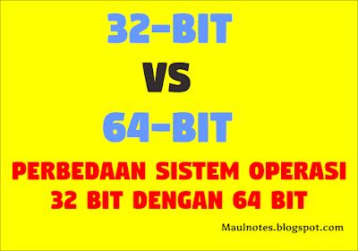 Perbedaan Sistem Operasi 32 Bit dengan 64 Bit