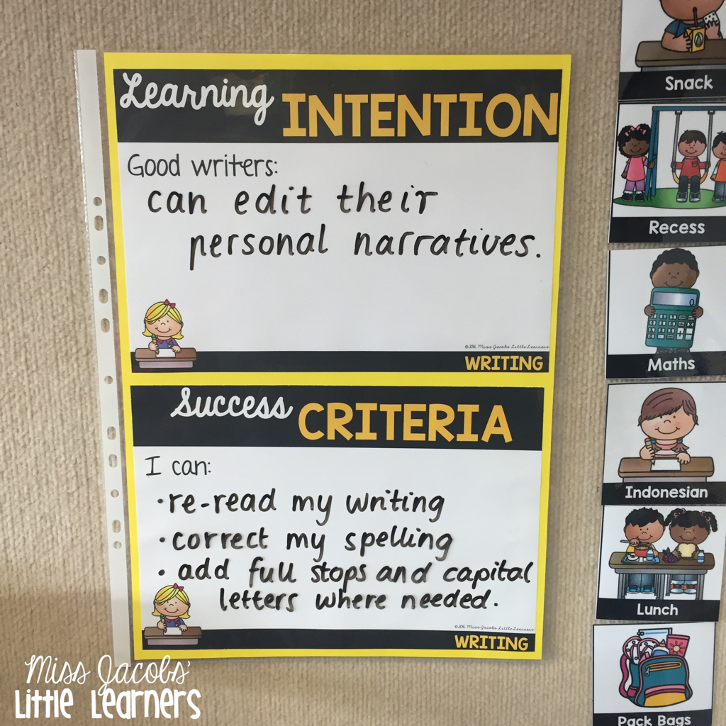 An Own Goal And Glaring Misses: Learning Intentions And Success Criteria