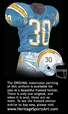 San Diego Chargers 1994 Throwback uniform