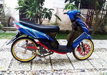 modifikasi motor yamaha beat
