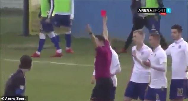 Croatian U19 player sent off for imitating Diego Simeone's 'cojones' celebration during a match