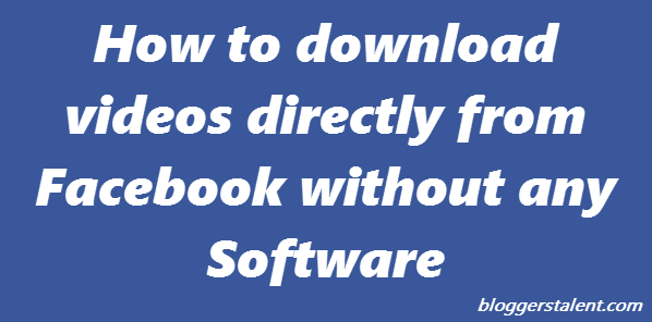 how to facebook download video