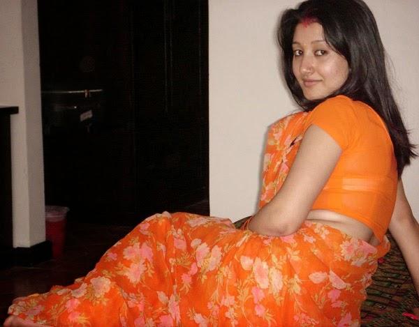 Hot Nepali Actress In Orange Saree - Hd Latest Tamil -3225