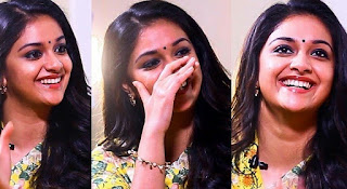 Keerthy Suresh in Yellow Saree with Cute and Awesome Lovely Chubby Cheeks Smile