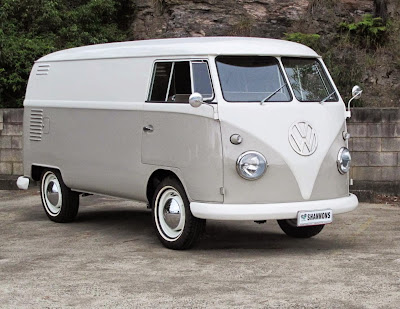 A right hand drive split-screen 1962 Volkswagen Kombi 'Windowless' Panel Van that has been rebuilt with a high degree of authenticity is expected to sell in the $60,000-$70,000 range