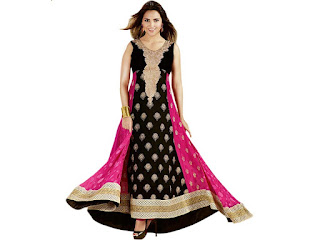 Anarkali Top is long frock-style top, exceptionally attractive decorated style in many different lengths and embroideries, with sleeves from cap- to wrist-length or sleeveless. It is also known as an Umbrella style, Frock style.