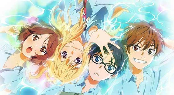Daftar Rekomendasi Anime Sedih Terbaik - Shigatsu wa Kimi no Uso