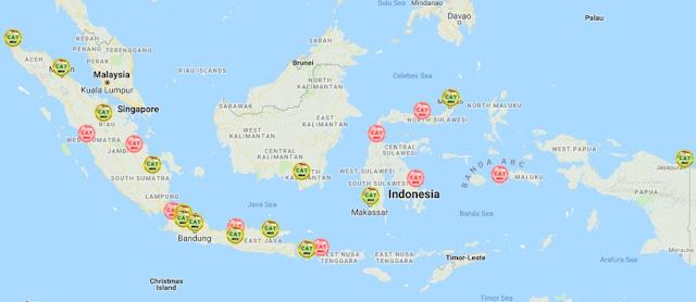 Peta Pelaksanaan tes CAT BKN 2018